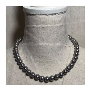 NWOT Forever 21 Faux Black Pearl Necklace